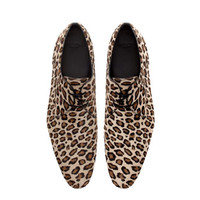 LEOPARD PATTERN LEATHER SHOE