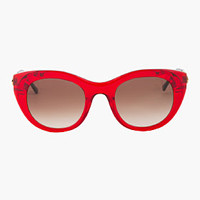 RED TRANSPARENT POETRY SUNGLASSES