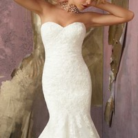 Elegant Lace Wedding Gown by Mori Lee