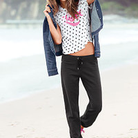 Fleece Extended Crop Pant - Victoria's Secret