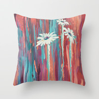 Daisy Drips Throw Pillow by Brienne Jepkema
