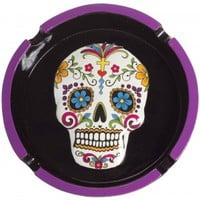 DAY OF THE DEAD ASHTRAY WHITE