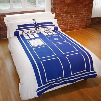 Double Doctor Who Tardis Duvet Set From BBC Worldwide : TruffleShuffle.com