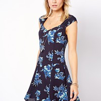ASOS Skater Dress in 90's Floral Print
