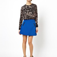 ASOS A-line Mini Skirt with Contrast Jet Trims