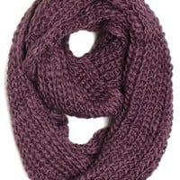 Dry77 ForeverScarf Thick Knitted Solid Infinity Loop Scarf