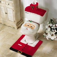 Santa Toilet Seat Cover And Rug Set By Collections Etc