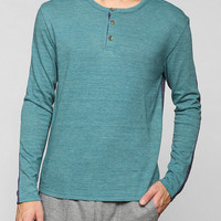 ALTERNATIVE  Colorblock Henley Pullover Sweatshirt - Urban Outfitters