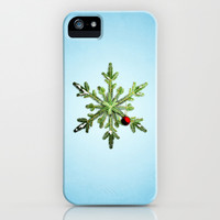 Winter Holidays Pine Snowflake iPhone & iPod Case by Boriana Giormova