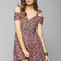 Band Of Gypsies Shoulder-Tie Fit & Flare Dress - Urban Outfitters