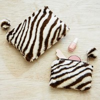 Fur Zebra Beauty Pouches, Set of 2