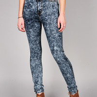 Acid Polished High Waist Skinnys