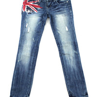 Almost Famous Union Jack Jeans – Juniors 1