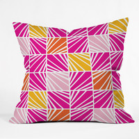 Heather Dutton Facets Bright Outdoor Throw Pillow