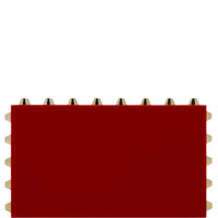 Naughty Pandora Clutch In Red by Charlotte Olympia for Preorder on Moda Operandi