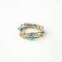Vanessa Mooney Dominga Turquoise Cross Bracelet Set at Free People Clothing Boutique