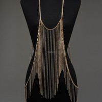 Chained in Glamour Body Chain - Gold