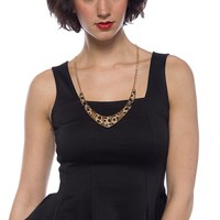 Lucky Leopard Sleeveless Peplum Top - Black