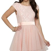 cap sleeve lace bodice with satin panel waist roller glitter tulle ballerina skirt