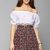 Lucca Couture Embroidered Off-The-Shoulder Cropped Top - Urban Outfitters