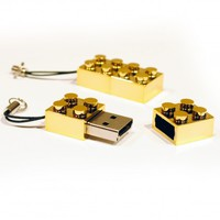 Gold Build Block 2GB USB Memory Stick Flash Drive from Locomocean Ltd | Made By Locomocean Ltd | £6.99 | BOUF