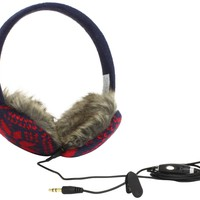 Lobers Women's Basic Snowflake Headphone Earmuffs