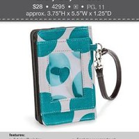 Thirty-One Teal Mod Wristlet - ****Free Shipping - in time for Christmas