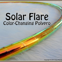 NeW - AMAZING CoLoR-CHaNGiNG Polypro Hula Hoop - 'SOLAR FLARE' - Free Inside Grip Option. Pro Poly Hoops with over 10,000 Sold.