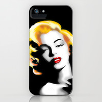 Marilyn Monroe Golden Hair iPhone & iPod Case by Bluedarkat Lem