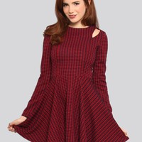 HOUNDSTOOTH SKATER DRESS