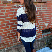 Weekend Knit {Navy & Cream}