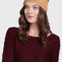Daria Knit Headband In Mustard