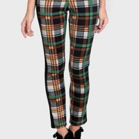 In The Highlands Plaid Print Pants
