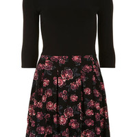 Floral skirt pleat dress