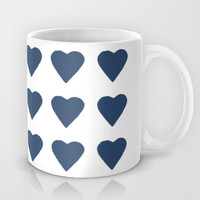 16 Hearts Navy Mug by Project M