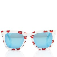 White Lips Print Sunglasses | Au Jour Le Jour | Avenue32
