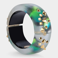 Graffiti Lucite Bangle with Studs