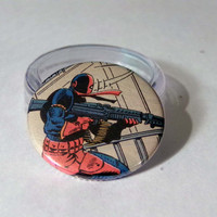 Comic Book 1.5 Button// Deathstroke