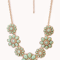 Floral Goddess Bib Necklace
