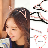 Cute & Sexy Womens Vivid Color Kitty Cat Ear Head Band Hair Band KPOP SNSD