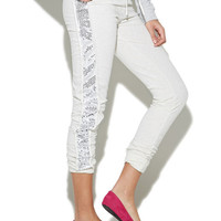 Side Sequin Jogger Pant | Wet Seal