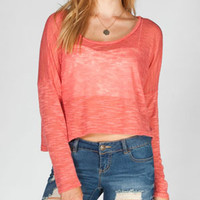 FULL TILT Drop Shoulder Womens Crop Top