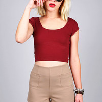 Scoop Out Cropped Top