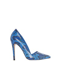 alice + olivia | DINA SEA SNAKE PRINT LEATHER HEEL