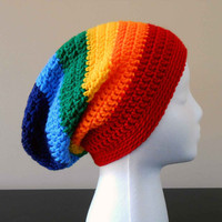 Rainbow Slouch Hat - Adult