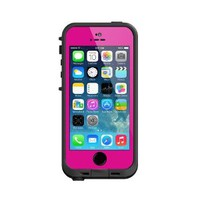 Lifeproof iPhone 5S Fre Case-Magenta/Black - Carrying Case - Retail Packaging - Magenta/Black