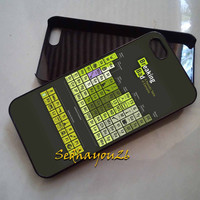 Breaking Bad Periodic Table iPhone 5C Case, iPhone 5S/5 Case, iPhone 4S/4 Case, Samsung Galaxy S3/S4, Premium Case Cover