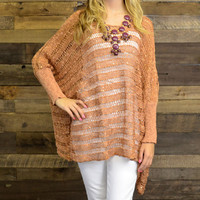 Creek Falls Rust Metallic Sweater