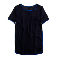 TIPPED SILK TEE