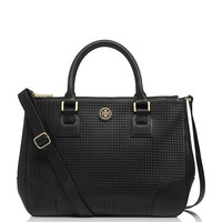 ROBINSON PERFORATED DOUBLE ZIP TOTE